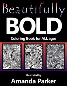 Beautifully Bold Coloring Book Front Cover
