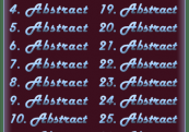 The word Abstract 30 times.